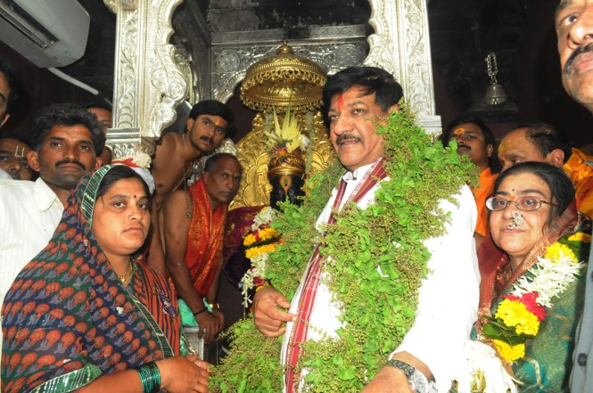 Chief Minister Prithviraj Chavan For Vitthal Darshan In Pandharpur