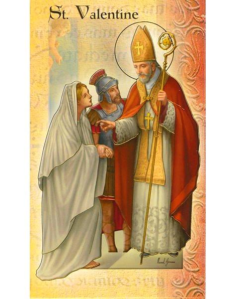 Saint Valentine Holy Card