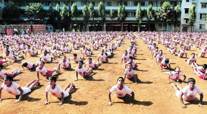 International Yoga Day in Schools