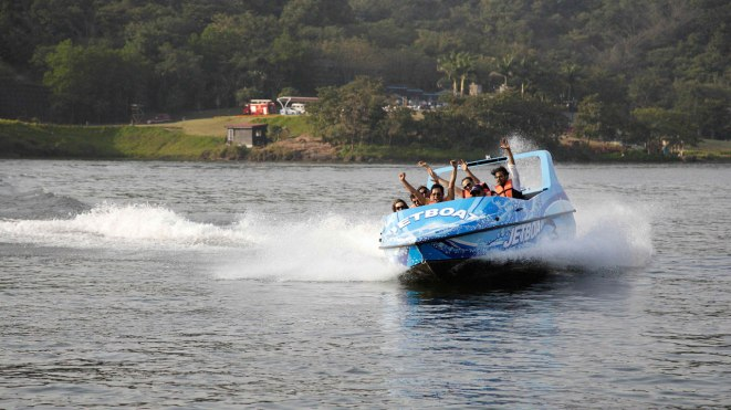 Aamby Vally water sports on jetboat
