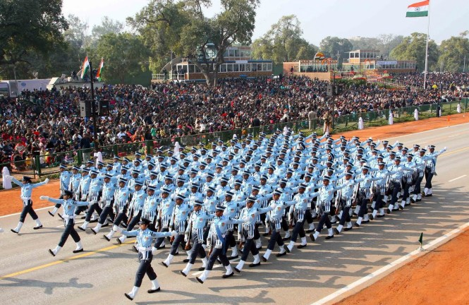 Parade on event of air force day