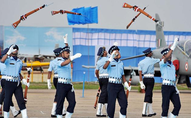Rifle Drill at Air Force Day Ceremony